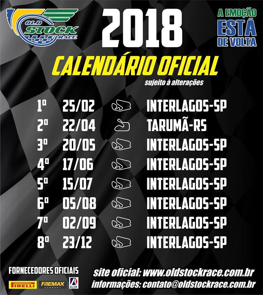 Old Stock Race - Calendário Oficial 2018